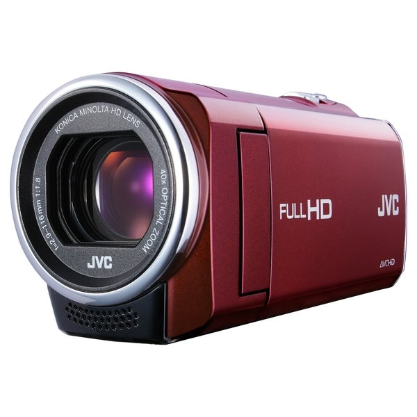 "JVC Everio GZ-E10 Digital Camcorder - 2.7"" LCD - CMOS - Full HD - Red"