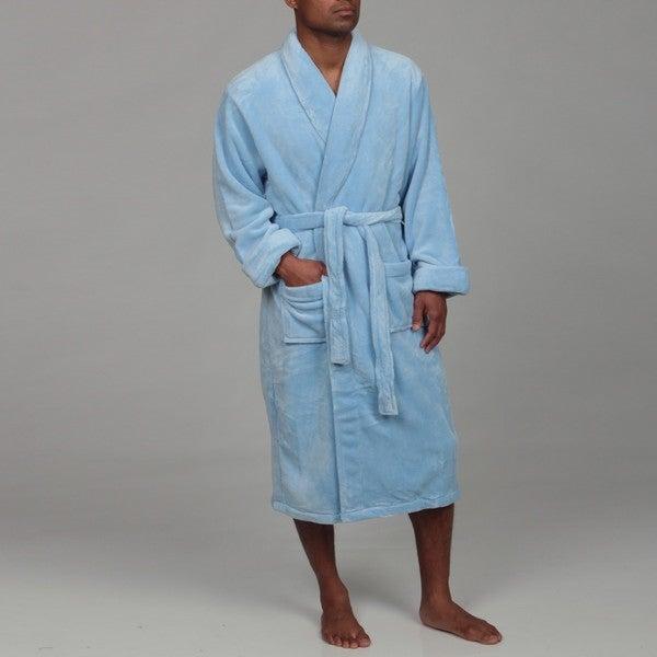 Woven Workz Unisex Boston Microfiber Blue Robe