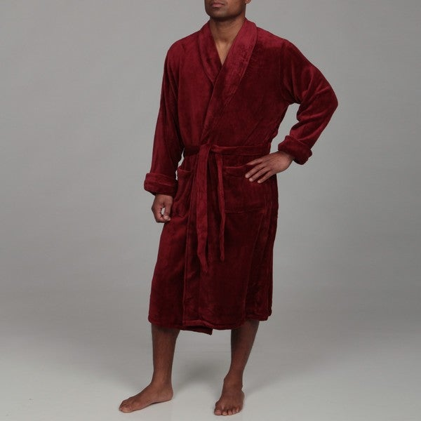 Woven Workz Unisex 'Boston' Merlot Microfiber Bath Robe