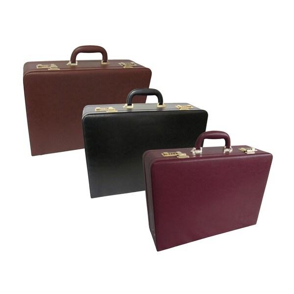 Amerileather Executive Faux Leather Attache Briefcase