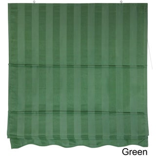 72-inch Striped Cotton-blend Roman Window Shade - 24 x 72 (Option: Green)