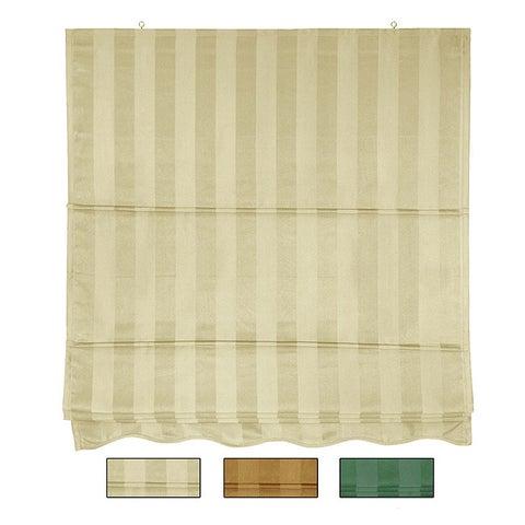 72-inch Striped Cotton-blend Roman Window Shade - 24 x 72