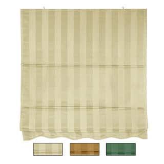 72-inch Striped Cotton-blend Roman Window Shade|https://ak1.ostkcdn.com/images/products/6452172/P14051711.jpg?impolicy=medium