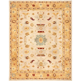Safavieh Handmade Tribal Ivory/ Gold Wool Rug (11' x 17')