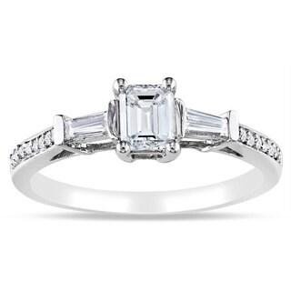 Miadora Signature Collection 14k White Gold 3/4ct TDW Diamond Ring