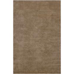 Hand Knotted Meru Geometric Wool Area Rug - 5' x 8' - Thumbnail 0