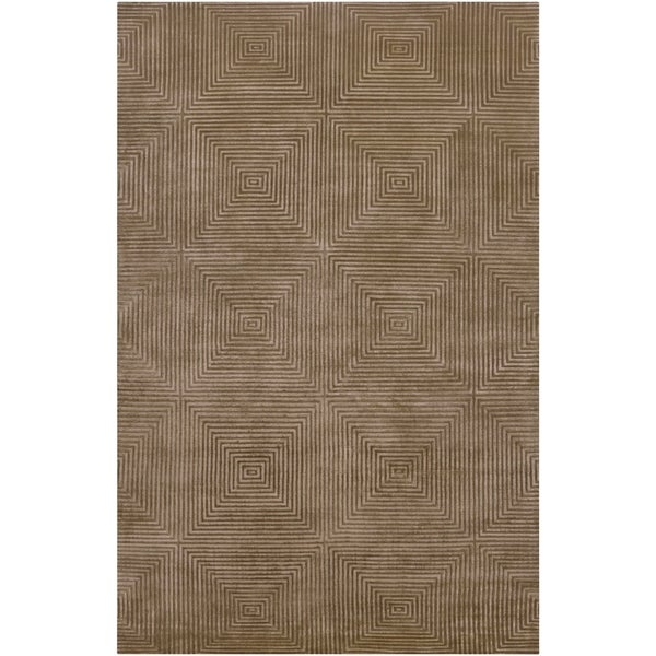 Hand Knotted Meru Geometric Wool Area Rug - 5' x 8'