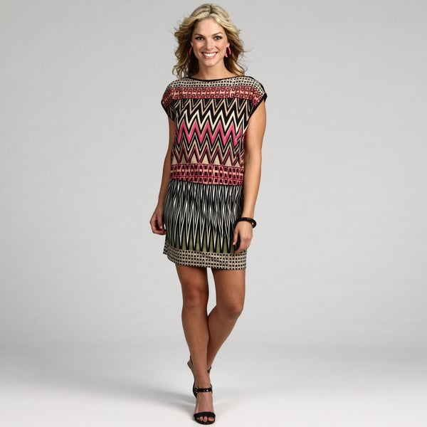London Times Women's Multi Color Abstract Dress