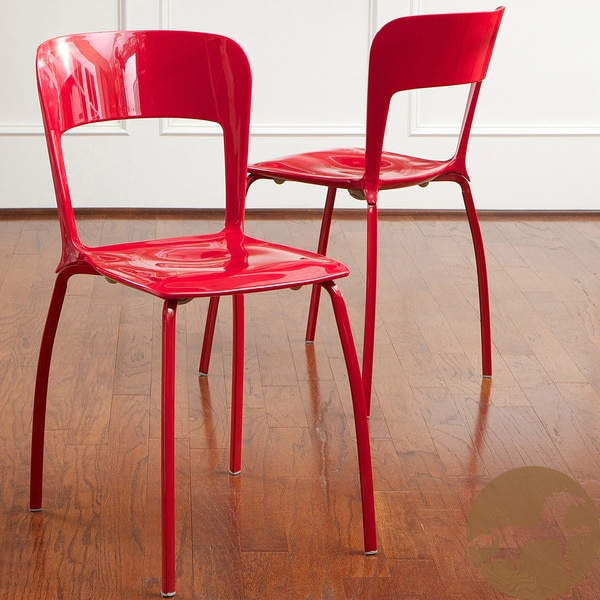 Red Modern Chairs (Set of 2) by Christopher Knight Home