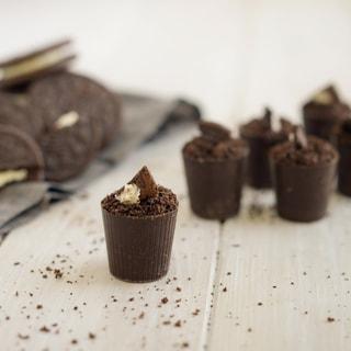 Lang's Chocolates 128 Dark Chocolate Dessert Cups