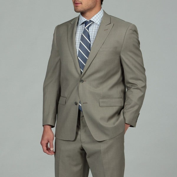 Joseph Abboud Men's Taupe 2-button Wool Suit