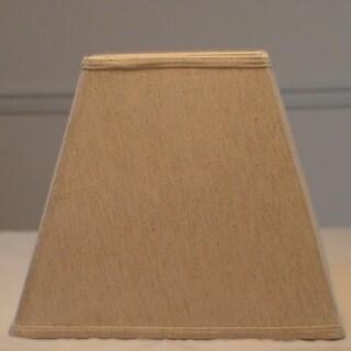 Cream Linen Hardback Square Lamp Shade with Harpfitter