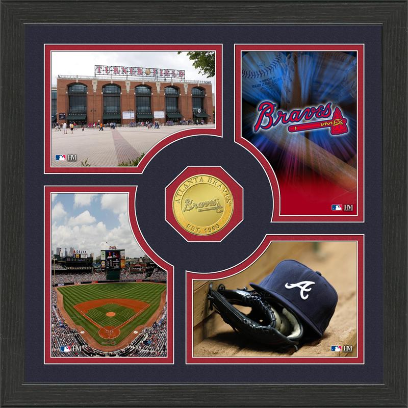 Highland Mint Atlanta Braves 'Fan Memories' Minted Coin Photo Frame