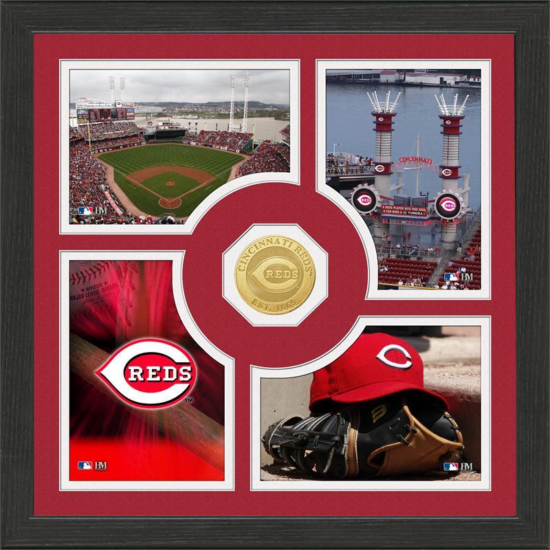 Highland Mint Cincinnati Reds 'Fan Memories' Minted Coin Photo Frame