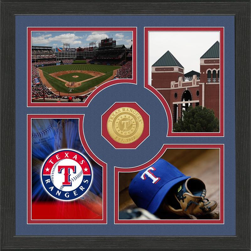 Highland Mint Texas Rangers 'Fan Memories' Minted Coin Photo Frame