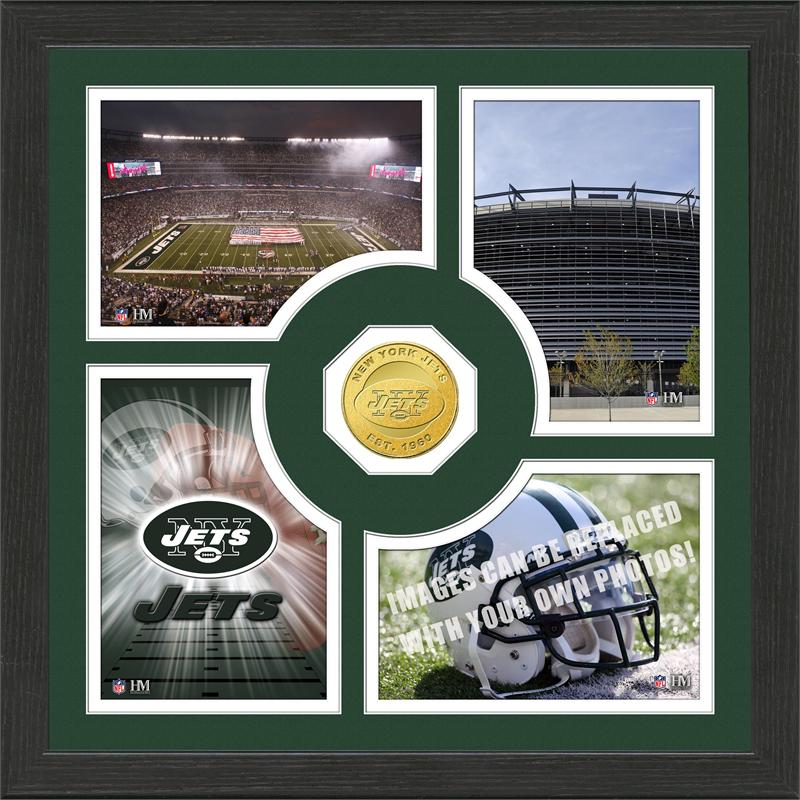 Highland Mint New York Jets 'Fan Memories' Minted Coin Photo Frame