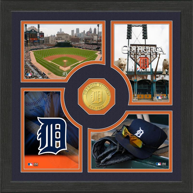 Highland Mint Detroit Tigers 'Fan Memories' Minted Coin Photo Frame