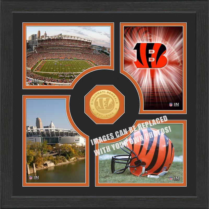 Highland Mint Cincinnati Bengals 'Fan Memories' Minted Coin Photo Frame