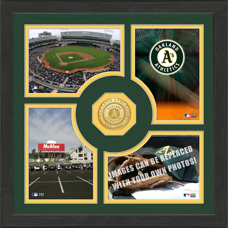 Highland Mint Oakland Athletics 'Fan Memories' Minted Coin Photo Frame