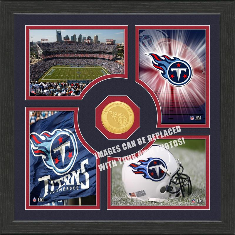 Highland Mint Tennessee Titans 'Fan Memories' Minted Coin Photo Frame