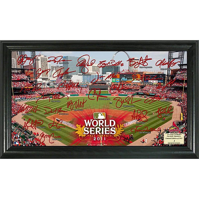 Highland Mint 2011 World Series St. Louis Cardinals Field Signature Framed Photo