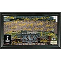 """Highland Mint Green Bay Packers """"Super Bowl XLV Champions"""" Autographed Gridiron Photo"""
