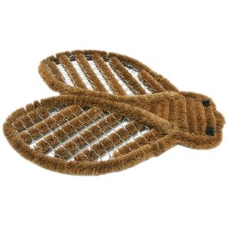 Rubber-Cal Outdoor 'Cricket' Coconut Coir Boot Scraper Mat