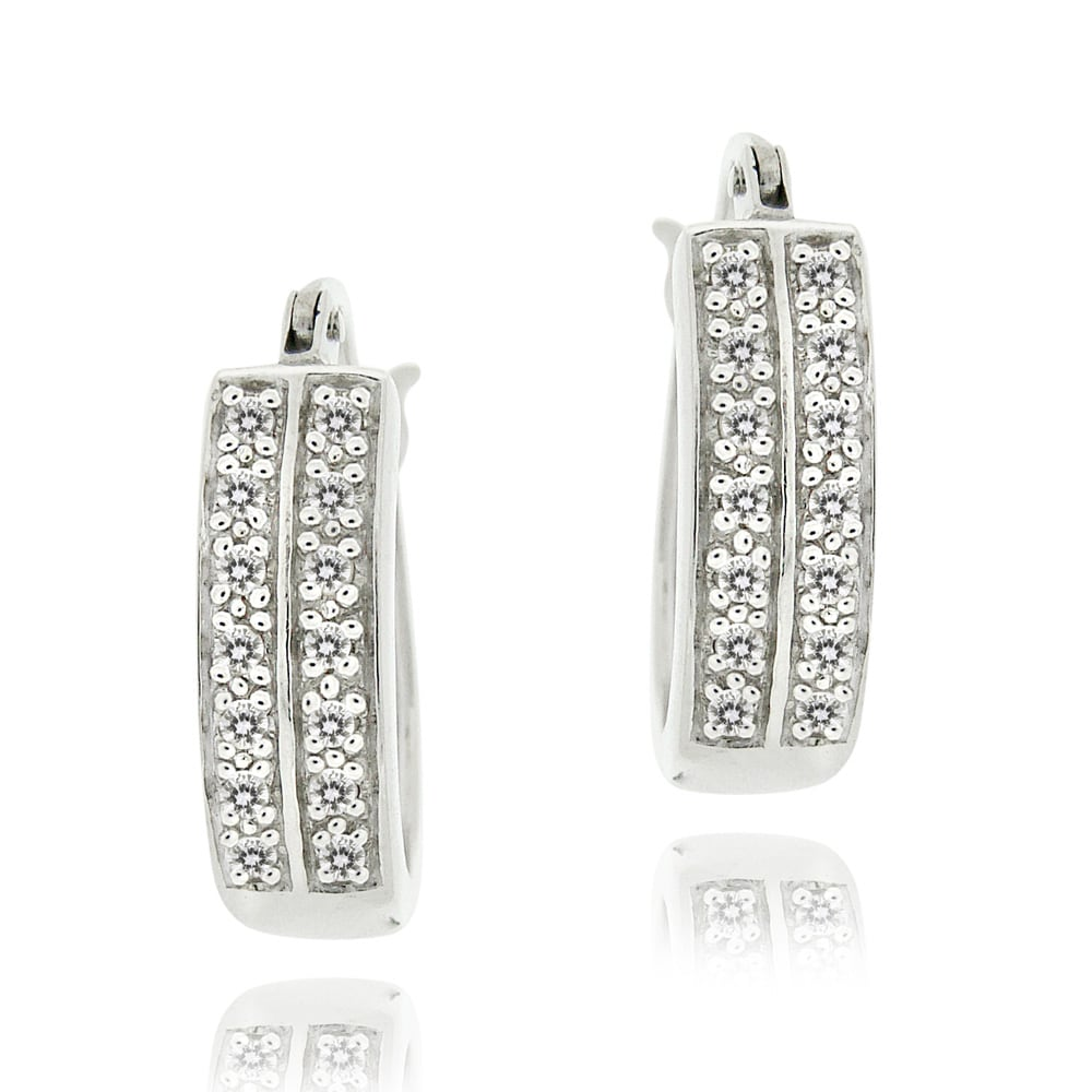 DB Designs Sterling Silver 1/4ct TDW Diamond Cuff Earrings (J, I3)