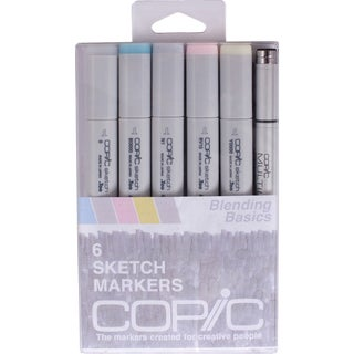Copic Markers 'Blending Basics' Sketch Marker and Multi-Liner Pen (Pack of 6)