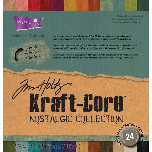 Darice Tim Holtz Kraft-Core Nostalgic 12-inch Cardstock Assortment
