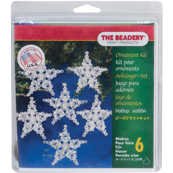 Traditional Star Holiday Beaded Ornament Kit