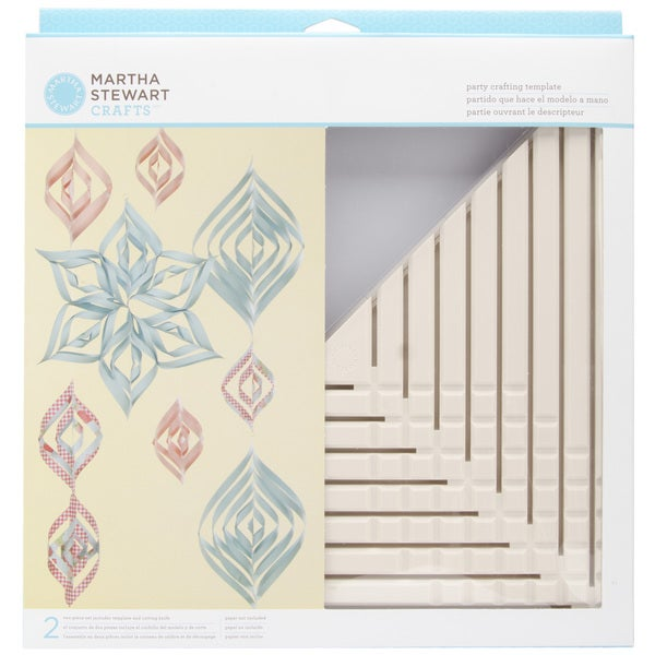 Martha Stewart 'Vintage Girl' Large Triangle Paper Ornament Template