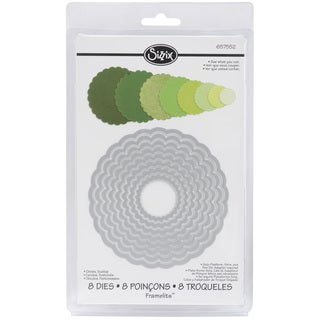 Sizzix Framelits Scalloped Circle Die Cuts Package of 8