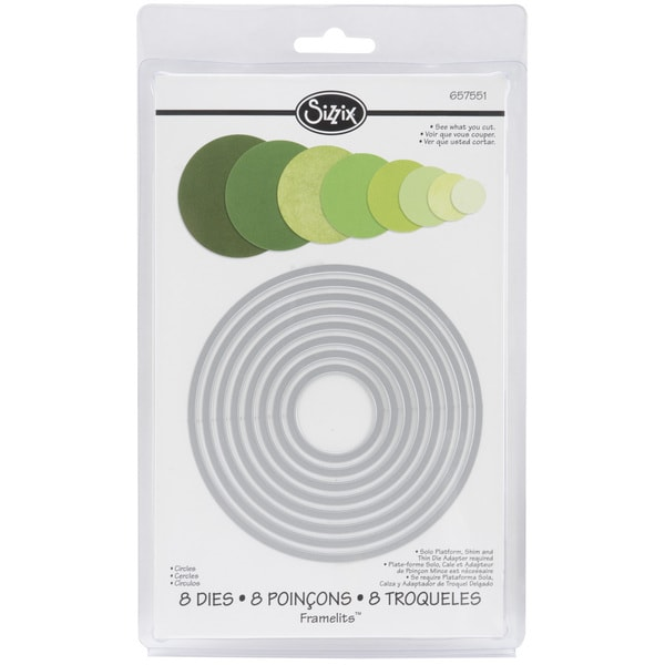 Sizzix Framelits Circle Die Cuts Package of 8