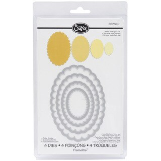 Sizzix Framelits Scalloped Oval Die Cuts Package of 4