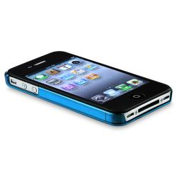 INSTEN Blue Snap-on Slim-fit Phone Case Cover for Apple iPhone 4/ 4S