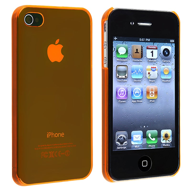 Orange Snap-on Slim-fit Case for Apple iPhone 4/ 4S
