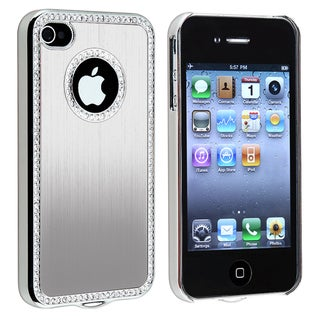 Bling Luxury Silver Snap-on Case for Apple iPhone 4/ 4S