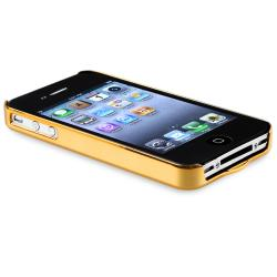 INSTEN Bling Luxury Gold Snap-on Phone Case Cover for Apple iPhone 4/ 4S