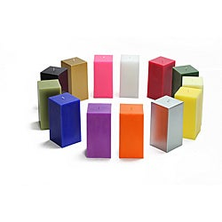 Pillar 3x9-inch Square Candles (Pack of 12)