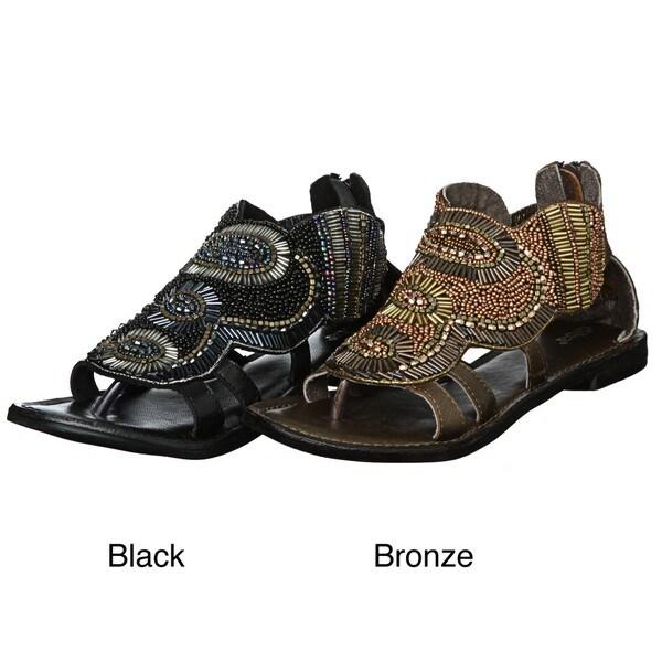 Diba Women's 'A Peel' Beaded Sandals FINAL SALE