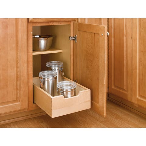 Rev-A-Shelf 4WDB-12 Small Pull-out Wood Cabinet Drawer