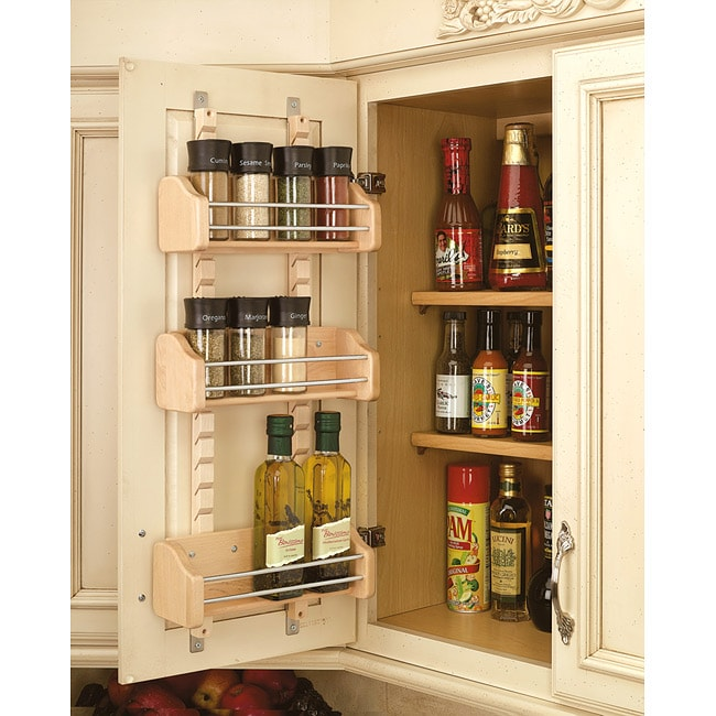 Kitchen Cabinet Spice Rack Organizer: Rev-A-Shelf 4ASR-15 Adjustable Door Small Mounted Spice