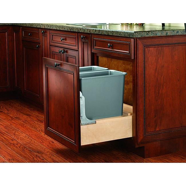 Rev-A-Shelf Wood Double 30-quart Waste Container