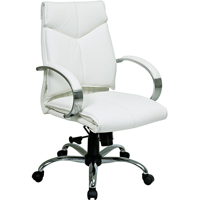 Deluxe Mid-Back Executive Leather Chair
