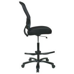 big tall double dark air grid back drafting chair free shipping