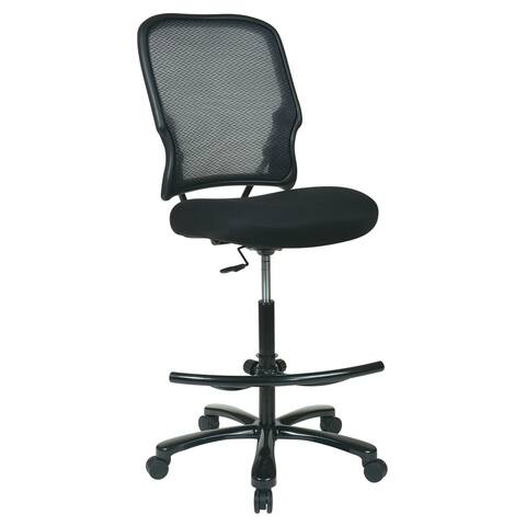 Big Man's Dark MeshBack Drafting Chair
