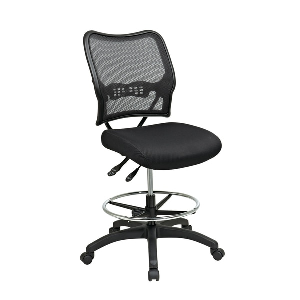 Deluxe Ergonomic MeshBack Drafting Chair with Mesh Seat