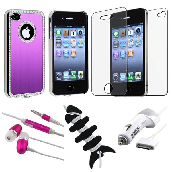 BasAcc Bling Case/ LCD Protector/ Headset/ Charger for Apple iPhone 4S