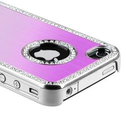 Bling Purple Case/ Screen Protector/ Car Charger for Apple iPhone 4S